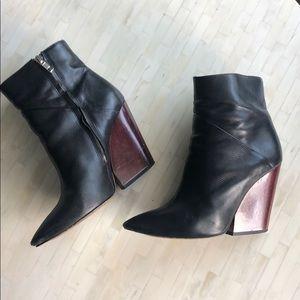 IRO wooden wedge heel bootie